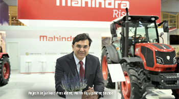 Mahindra showcases newly developes tractors at Agritechnica