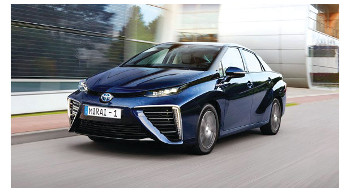 Toyota's hydrogen fuel cell-powered Mirai to be made available in Canada