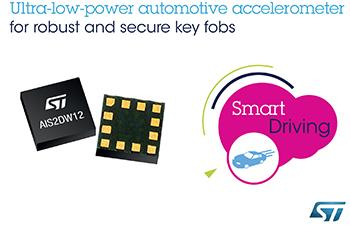 STMicroelectronics new accelerometer protects fragile fobs using less power