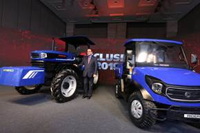 Escorts unveils India's first hybrid concepts for tractor, backhoe loader and RTV