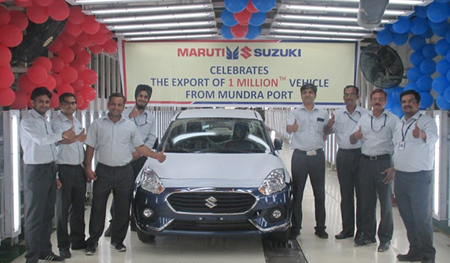 Maruti Suzuki India's car exports from Mundra Port reaches one million mark