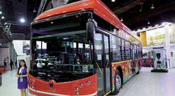 JBM Auto unveils electric buses Eco-Life e9 and e12 at the Auto Expo 2020