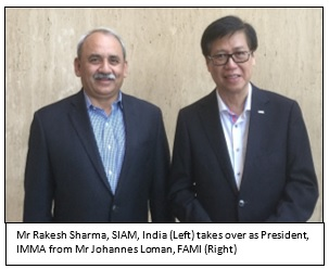Rakesh Sharma from Bajaj Auto takes over as IMMA's President