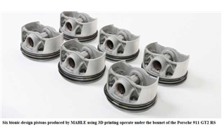 MAHLE makes aluminium pistons using 3D printing for Porsche sports car